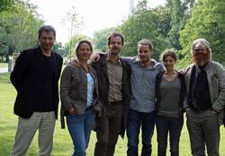 Schmerbeck with TATORT cast 2015