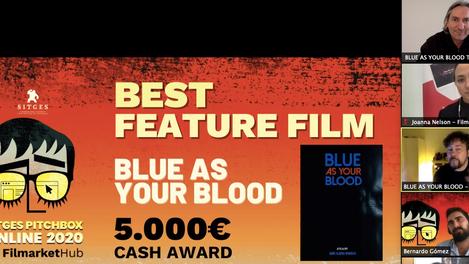 BLUE BLOOD wins Sitges Pitchbox