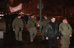 police at premiere AUFSTAND DER PRAKTIKANTEN 2009