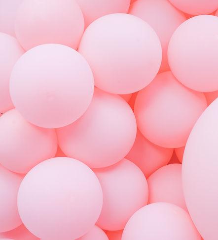 Pink balloons, bunny balloon, pink bubbl