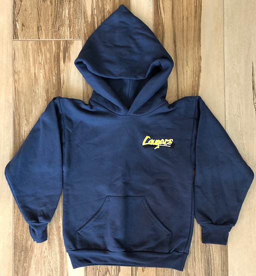 Adult - Navy Hoodie Pullover - Legacy Cougar (design on front & back