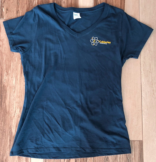 Adult - Ladies V-Neck (Cubberley on front & cougar paw on back)