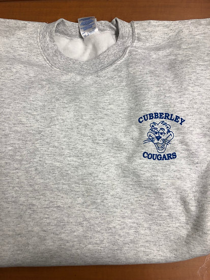 Pullover Sweatshirt Grey Retro Small Cubberley (front only) no hood