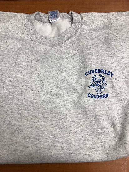Grey Retro Cubberley Pullover Sweatshirt (front design only)