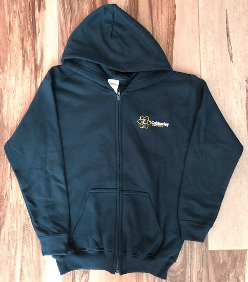 Adult - Zip-Up Navy Blue Hoodie (Cubberley on front & cougar paw on back)