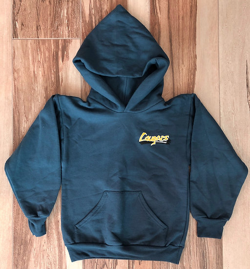 Adult - Pullover Navy Blue Hoodie (Legacy Cougar on front & back)