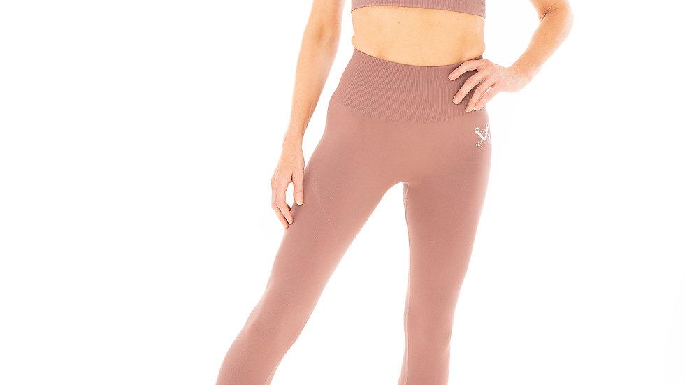 Classic Mocha seamless leggings & bra set