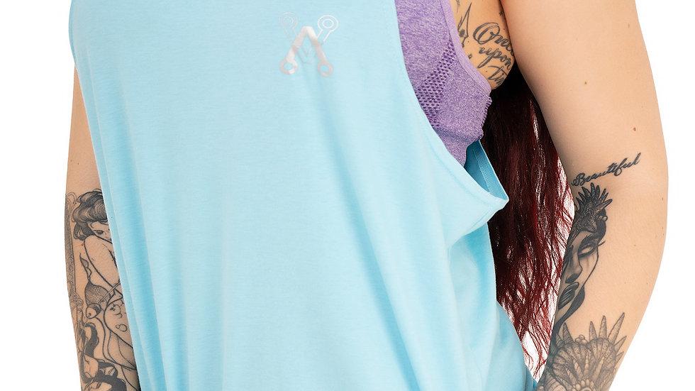 Unisex turquoise string vest