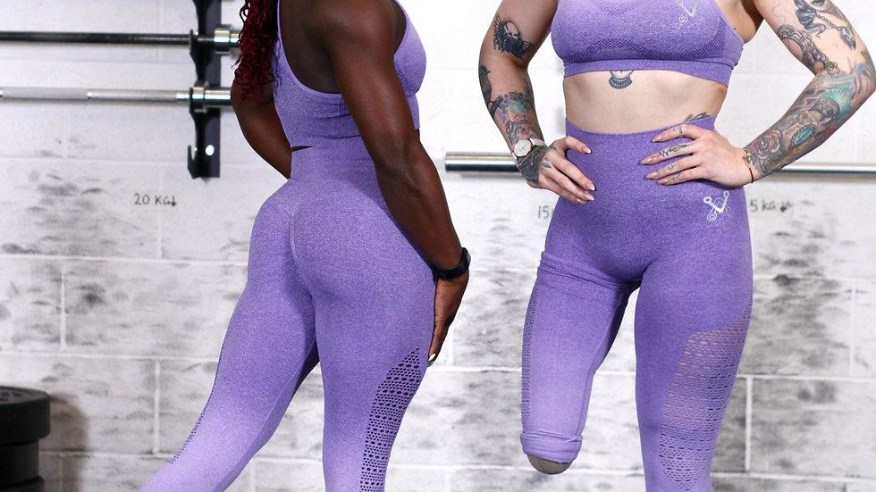 Sovereign Purple Ombré seamless leggings and bra set