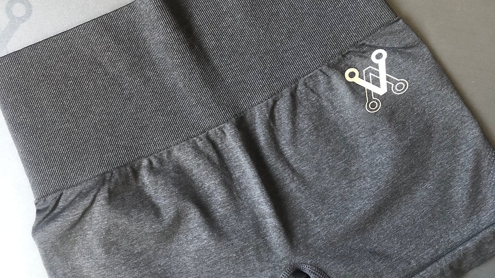 Charcoal black seamless shorts