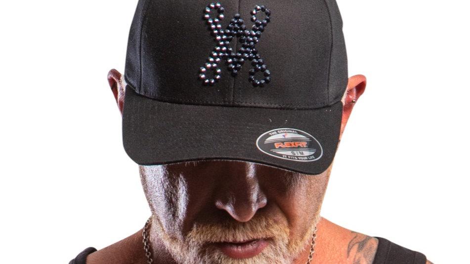 Chalice Blade Black Crystallised Base ball cap (solid back)