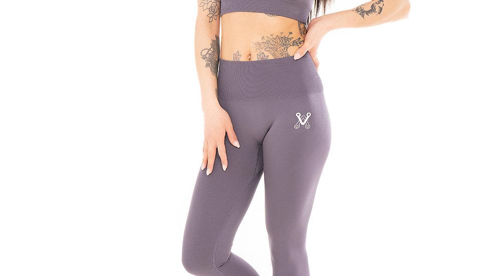 Classic Grey seamless leggings & bra set