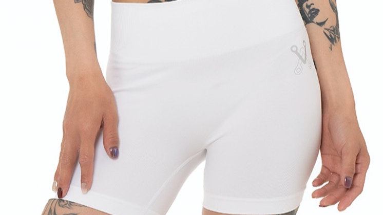 White Seamless Short