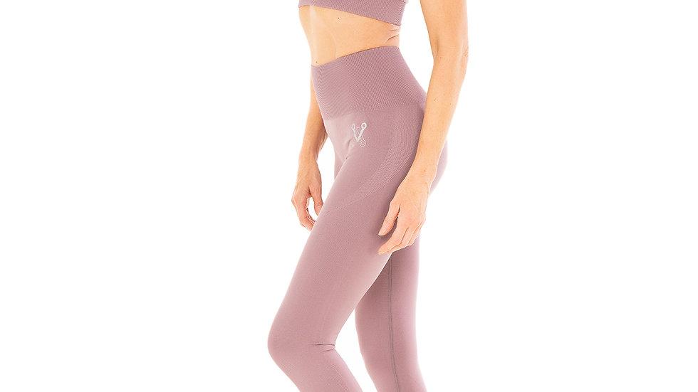 Classic Dusty Lilac seamless leggings bra set