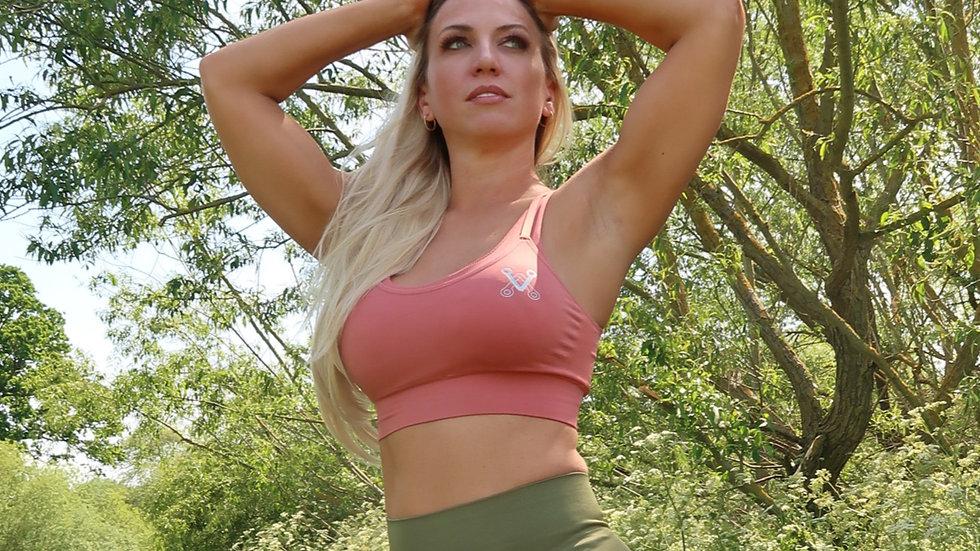 Boobalicious Salmon Pink seamless sports bra