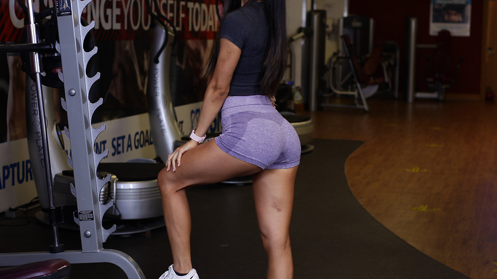 Purple seamless shorts