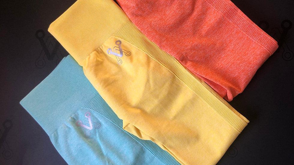 Bootalicious sherbet seamless scrunch bum leggings Orange