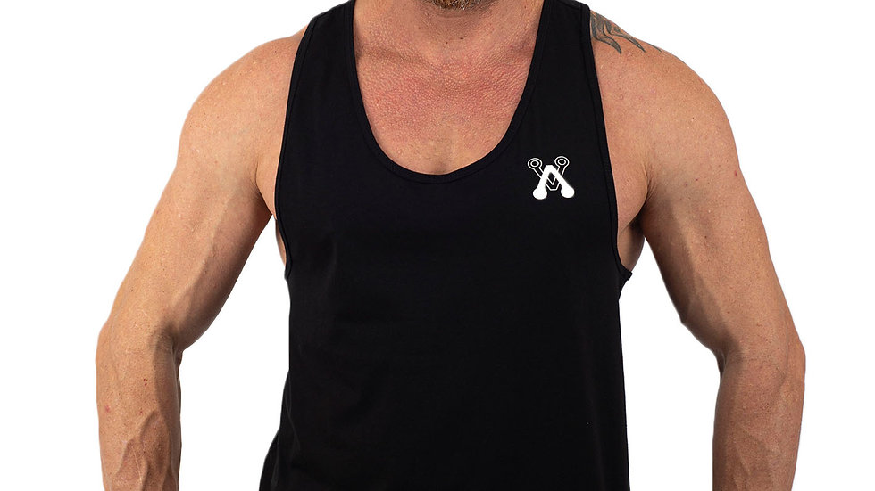 Modern Black drop arm vest