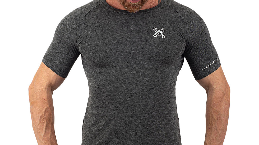 Muscle Grey fitted T shirt
