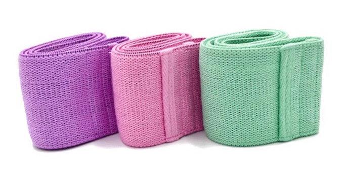 Multipack resistance bands pink lilac & spearmint