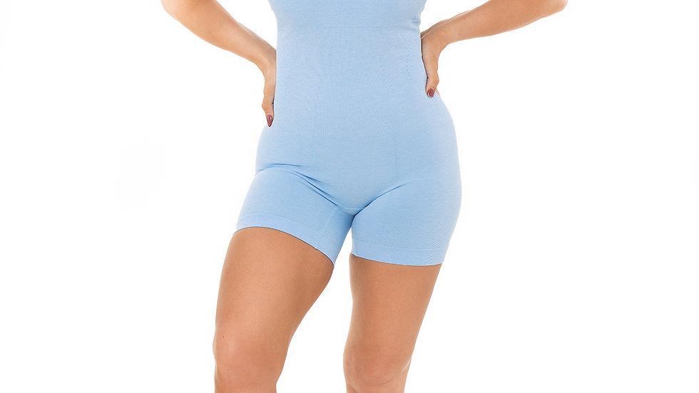 Seamless Blue Yoga Rompa Playsuit Jumpsuit