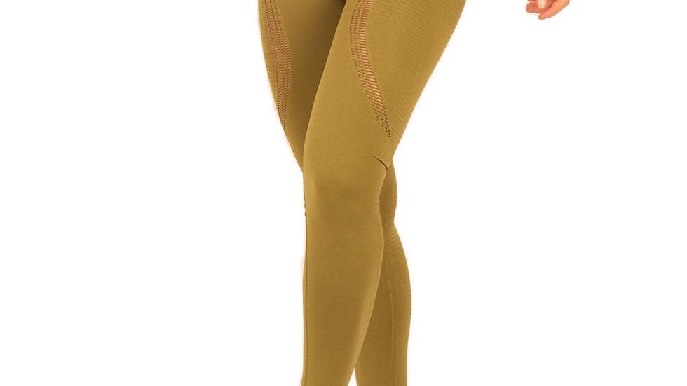 Aphrodite Khaki seamless scrunch bum leggings