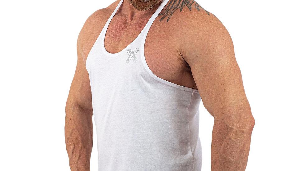 Unisex White string vest
