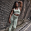 Thumbnail: Sovereign Khaki Ombré seamless leggings & bra set