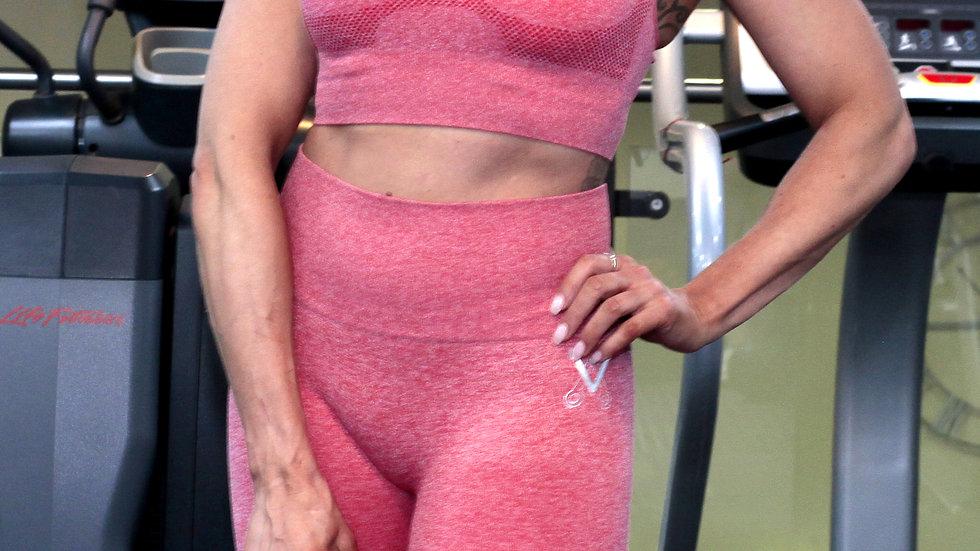 Sovereign Peach Ombré seamless scrunch bottom leggings and bra