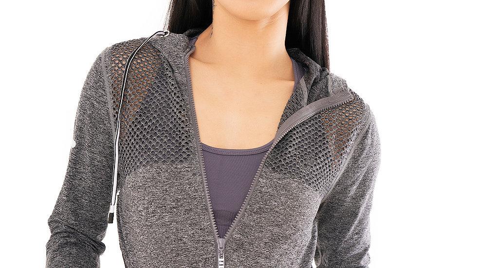 Zip Front Hoody Grey