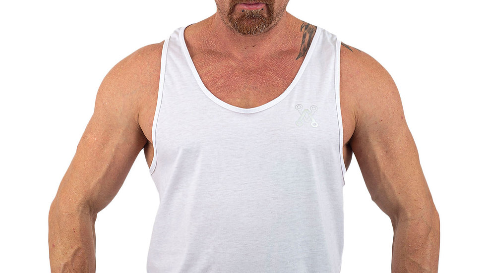 Modern White drop arm vest