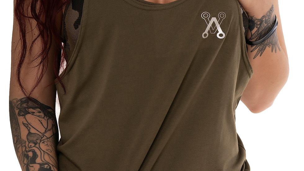 Unisex Khaki string vest