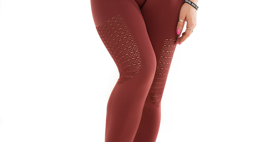 Bootalicious Maroon seamless Scrunch bum leggings