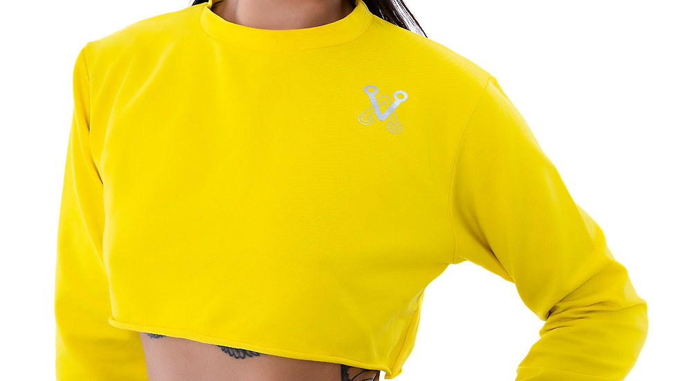 Cropped  Jumper Top Yellow