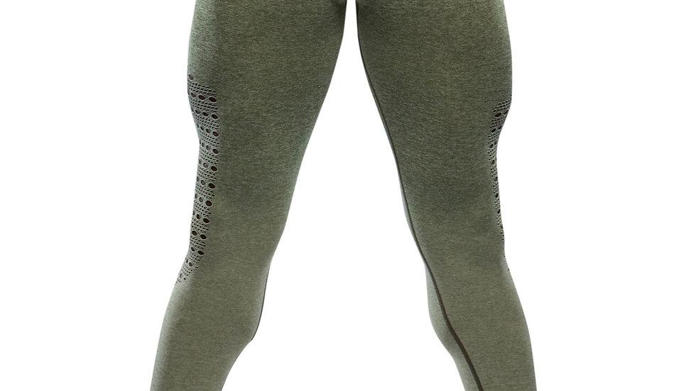 Sovereign Khaki Ombré seamless scrunch bottom leggings