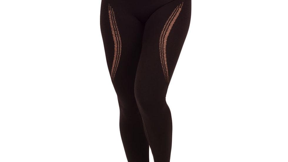 Aphrodite Black seamless scrunch bum leggings