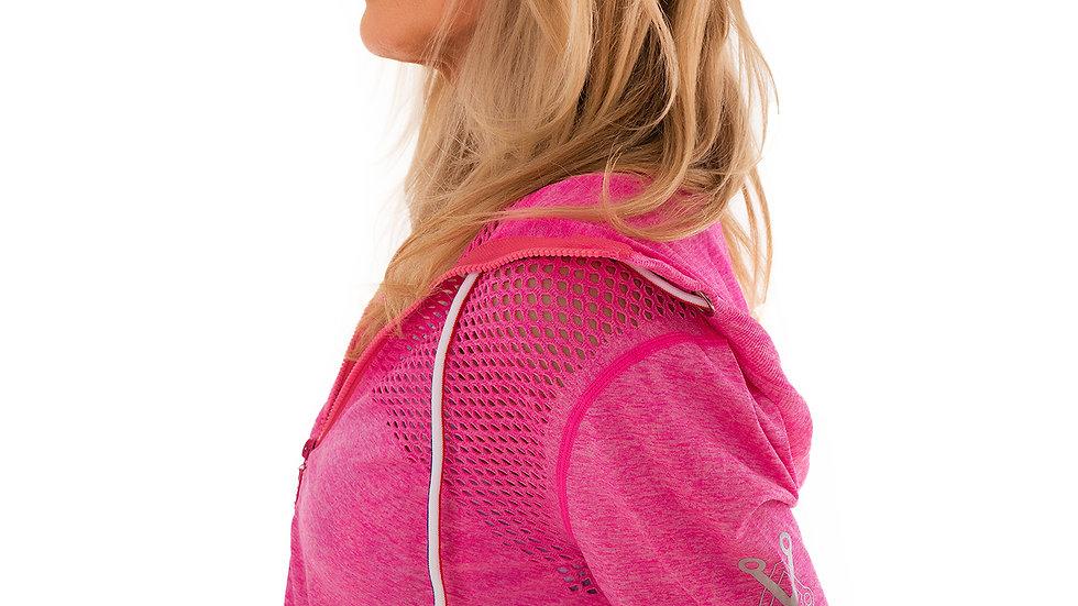 Zip Front Hoody Pink