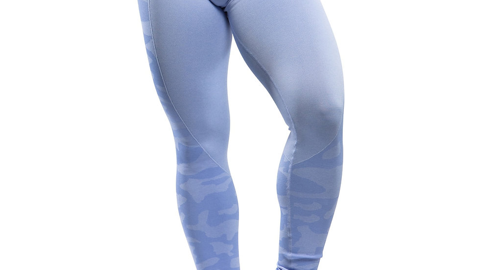 Warrior Blue seamless scrunch bottom leggings