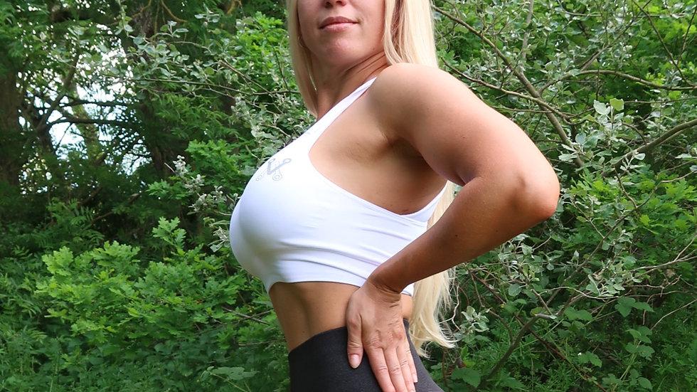 Boobalicious White seamless sports bra