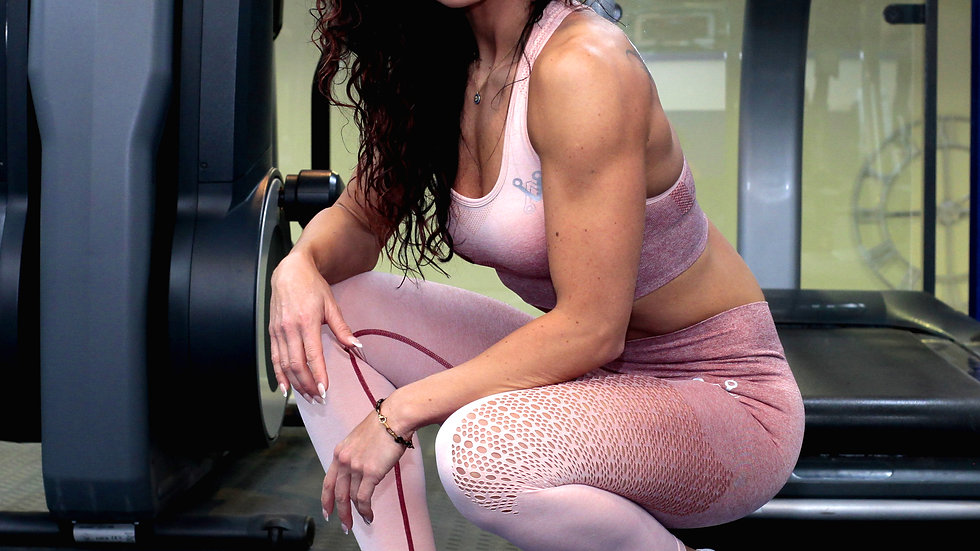 Sovereign Dusty Pink Ombré seamless leggings & bra set