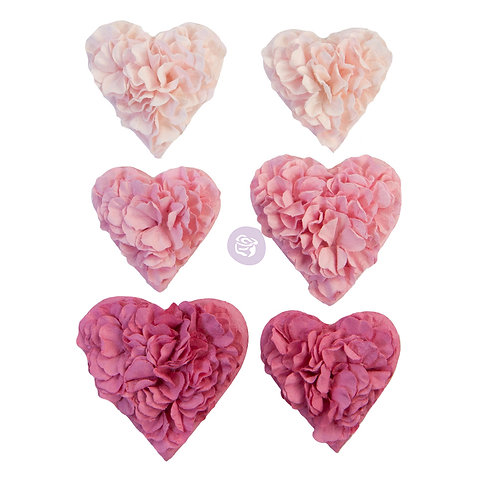 PRIMA FLOWERS® WITH LOVE COLLECTION – ALL THE HEARTS – 6 PCS / 1.5-2 IN
