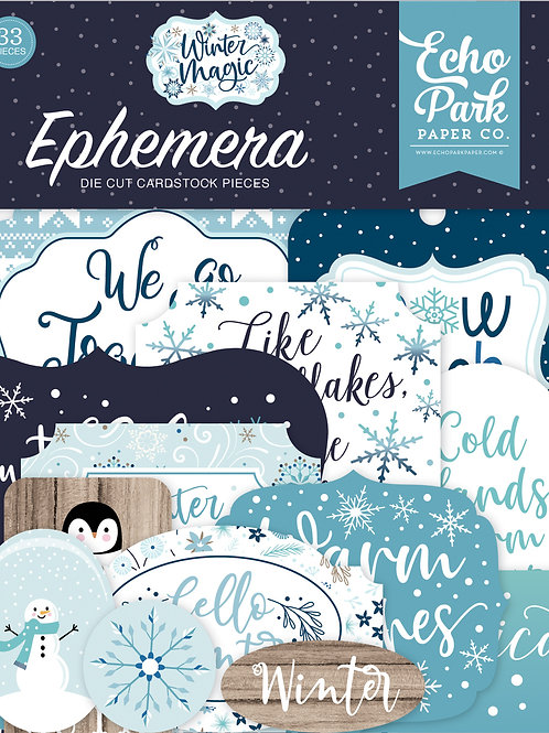 Echo Park - Winter Magic Collection - Ephemera