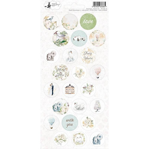 P13 - Truly Yours Collection - Cardstock Sticker Sheet