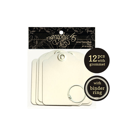 Graphic 45 Artist Trading Tags- Ivory