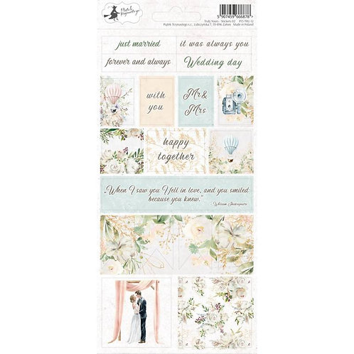 P13 - Truly Yours Collection - Cardstock Sticker Sheet - Two