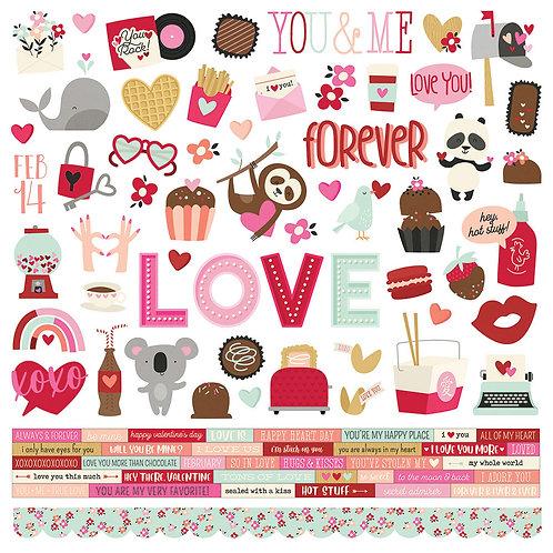 Simple Stories Sweet Talk Cardstock Sticker