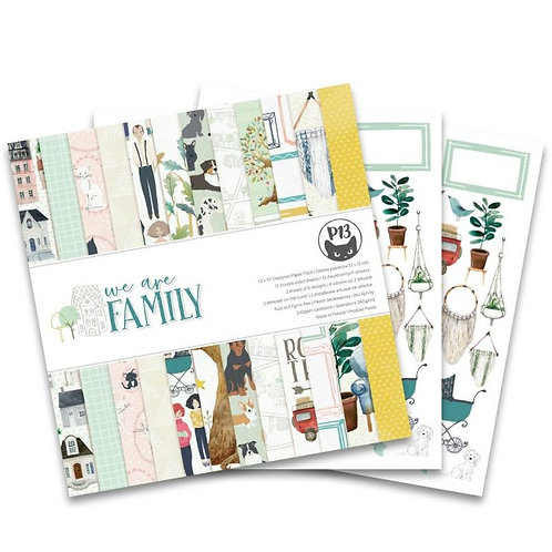 """P13  We are Family Paper Pad, 12""""X12"""""""
