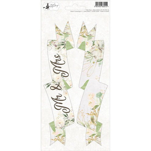 P13 - Truly Yours Collection - Cardstock Banner Sticker Sheet