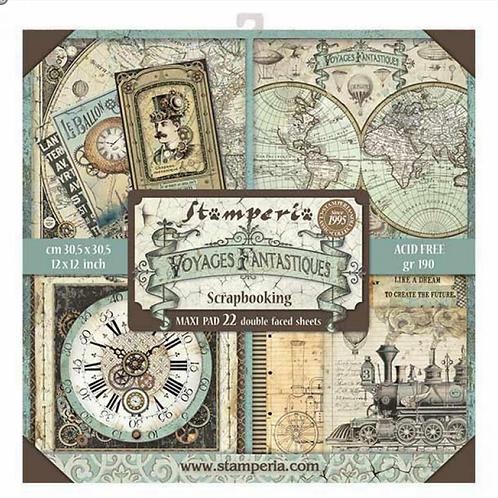 Stamperia Voyages Fantastiques 22 sheets 12x12