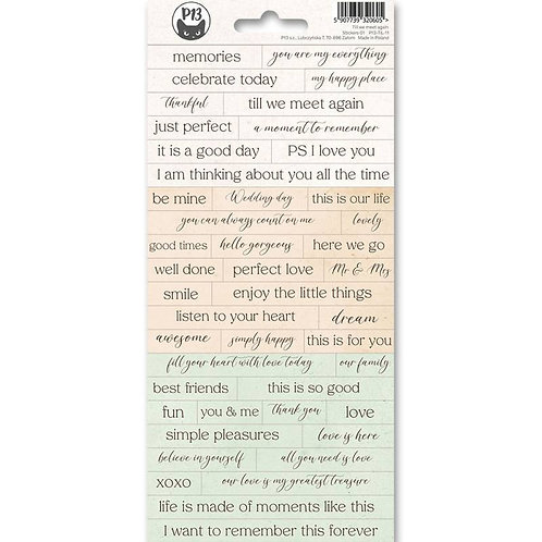 P13 - Till We Meet Again Collection - Cardstock Sticker Sheet